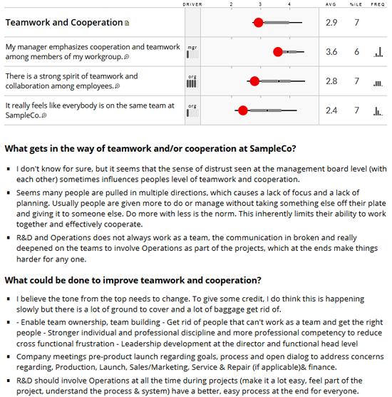 Employee Engagement Survey Dashboard Sample - Targeted Written ...