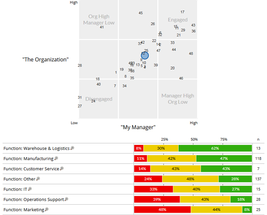 Employee Engagement Survey Dashboard Sample - Compare Demographic ...